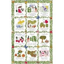 The Gardener's Calendar Tea Towel