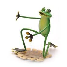 Metal Frog Wine Bottle Holder