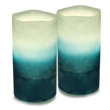 2 Tone Flicker Candle Set
