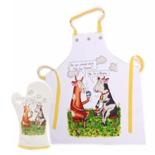 Mad Cow Apron and Glove Set