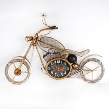Metal Motorbike Wall Clock