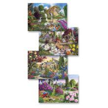 Flora & Fauna 4 x 500-Piece Jigsaw Set