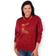 Burgundy Field Mouse Jersey Top