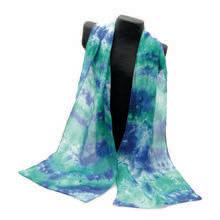 Emerald Hand-Dyed Silk Scarf