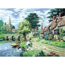 Feeding The Ducks Painting-By-Numbers Kit