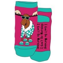 I Dont Do Mornings Adult Slipper Socks