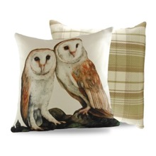 Barn Owls Cushion