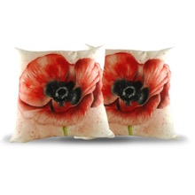 Set of Two Poppy Cushions