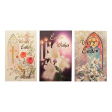 Stained Glass Design Easter Cards