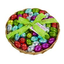 Basket of Foiled Mini Eggs