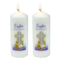 Easter Blessing Candle Saver Set