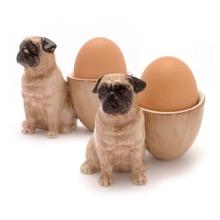 Pug Egg Cup Set