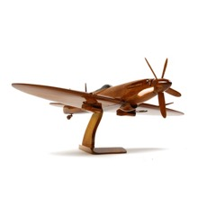 Supermarine Spitfire in Varnished Mahogany
