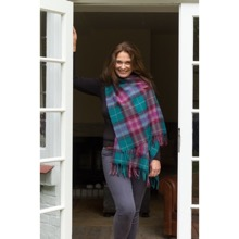 Classic Plaid Lambswool Stole