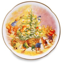 Beatrix Potter Christmas Tree Wall Plate