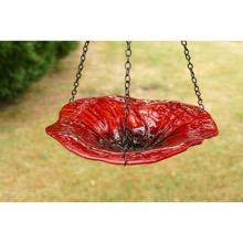 Hanging Poppy Birdbath or Feeder