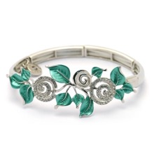 Swirls & Leaves Stretch Bracelet
