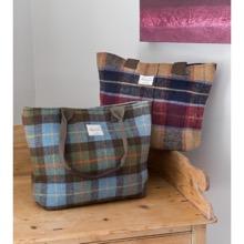 Rustic Blue/Green Tweed Handbag