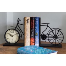 Bicycle Bookend Clock