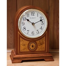 Wooden Barrister Mantel Clock