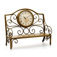 Garden Bench Mantel Clock