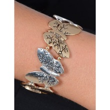 Silver and Gold Butterfly Bracelet
