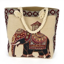 Elephant Tapestry Tote Bag