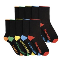 Twin Pack of Days of the Week Socks