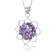 Purple Haze Silver Necklace