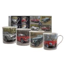 Set of Four Classic Roadster Mugs
