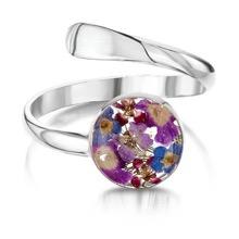 Purple Haze Adjustable Silver Ring