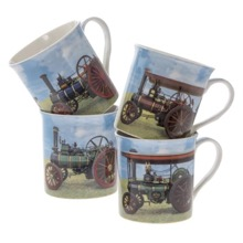 Set of Four Traction Engine Mugs
