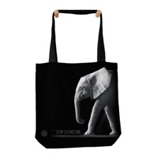 Stop Extinction Elephant Tote Bag
