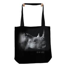 Rhino Be My Voice Tote Bag