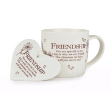 Friendship Mug And Heart Gift Set