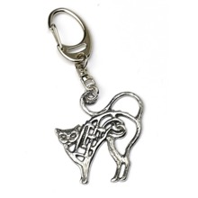 Celtic Cat Keyring