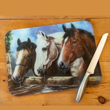 Three of a Kind Horses Work Surface Protector