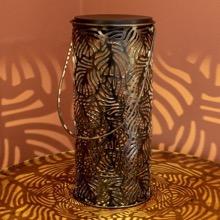 Antique Bronze Leaf Shadow Lantern