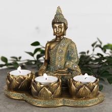 Verdigris Bronzed Buddha Tea Light Holder