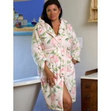 Plush Floral Bath Robe Pink 12-14