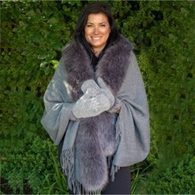 Silver Faux Fur Luxury Wrap