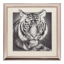 Tiger 3D framed Print
