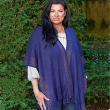 Wrap Around Navy Poncho