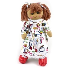 Alphabet Dress Rag Doll