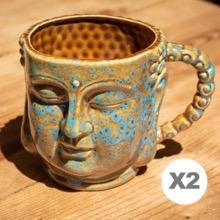 Pair of Buddha Mugs