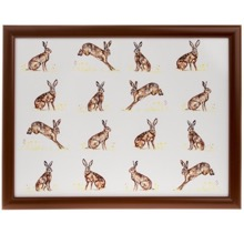 Country Hares Lap Tray