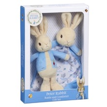 Peter Rabbit Blanket & Rattle Gift Set