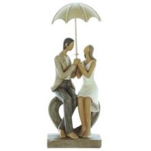 Rainy Day Couple Figuirine