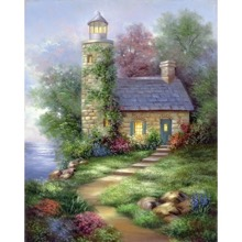 Paint Your Own Masterpiece Romantic Lighthouse