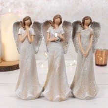 Trio of Glitter Angels